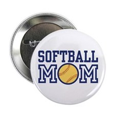 "Softball Mom 2.25"" Button"