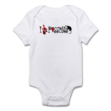 I Love Hearts Possums Infant Bodysuit