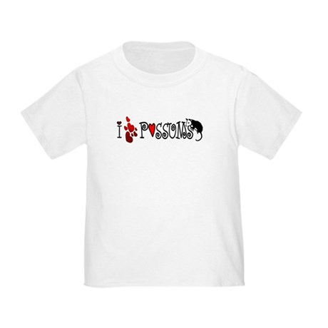 I Love Hearts Possums Toddler T-Shirt