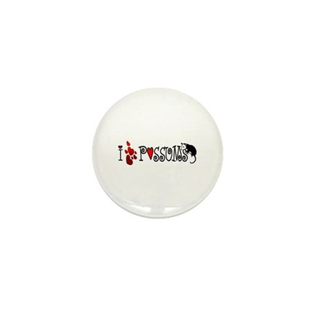I Love Hearts Possums Mini Button (100 pack)