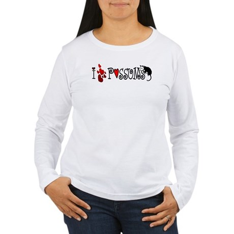 I Love Hearts Possums Women's Long Sleeve T-Shirt