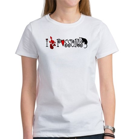 I Love Hearts Possums Women's T-Shirt