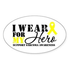Sarcoma Hero Oval Sticker (10 pk)