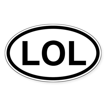 LOL Oval Sticker