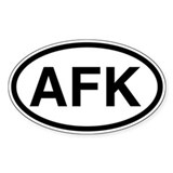 AFK Oval Decal