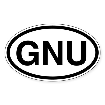 GNU Oval Sticker