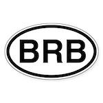 BRB Oval Sticker
