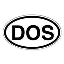 DOS Oval Decal