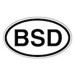 BSD Oval Sticker