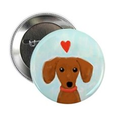 "Dachshund Love 2.25"" Button (10 pack)"