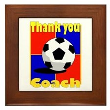 Cute Thank you soccer coach Framed Tile