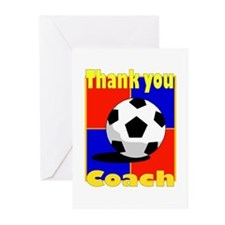 Cute Thank you soccer coach Greeting Cards (Pk of 10)