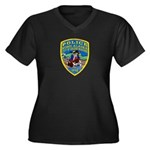 Nome Police Women's Plus Size V-Neck Dark T-Shirt