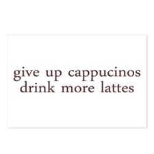 Give Up Cappucino Postcards (Package of 8)