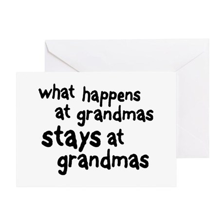 What Happens At Grandma's Greeting Card