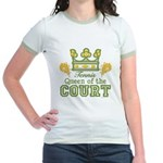 Queen Of The Court Tennis Jr. Ringer T-Shirt
