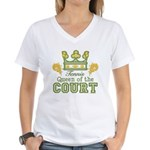Queen Of The Court Tennis Women's V-Neck T-Shirt