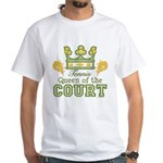 Queen Of The Court Tennis White T-Shirt