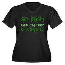 Green Poop - Women's Plus Size V-Neck Dark T-Shirt