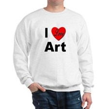 I Love Art (Front) Sweatshirt