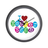 I Love Easter Eggs Wall Clock