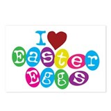 I Love Easter Eggs Postcards (Package of 8)