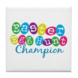 Easter Egg Hunt Champ Tile Coaster