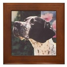 Pointer as Devoted Friend Framed Tile