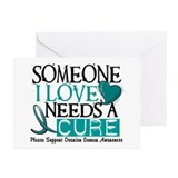 Needs A Cure OVARIAN CANCER Greeting Cards (Pk of