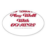 Play With Others Oval Sticker (10 pk)