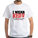 I Wear Red Son-in-Law White T-Shirt