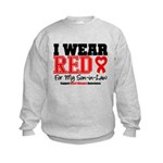 I Wear Red Son-in-Law Kids Sweatshirt