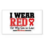 I Wear Red Son-in-Law Rectangle Sticker