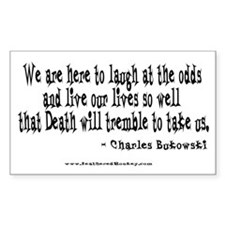 Laugh at the Odds Rectangle Sticker 10 pk)
