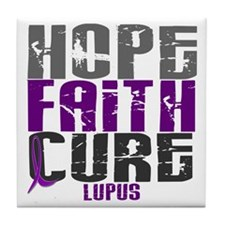HOPE FAITH CURE Lupus Tile Coaster