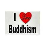 I Love Buddhism Rectangle Magnet (10 pack)