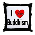 I Love Buddhism Throw Pillow