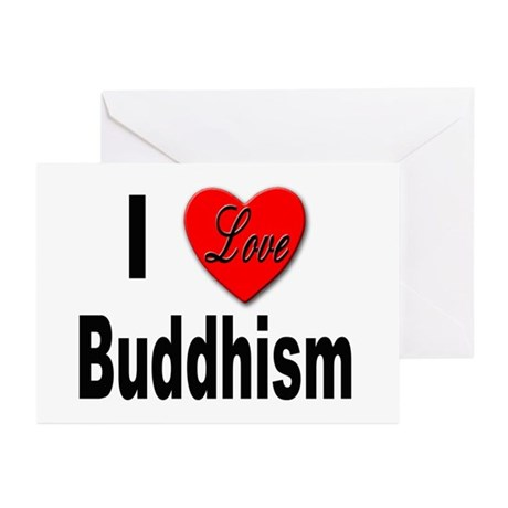 I Love Buddhism Greeting Cards (Pk of 10)