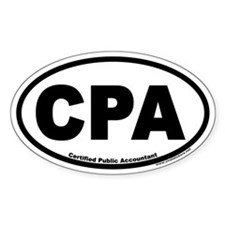 CPA Certified Public Accountant Euro Oval Decal