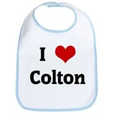 I Love Colton Bib