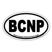 Bryce Canyon National Park BCNP Euro Oval Decal