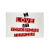 I Love My Yorkshire Terrier Rectangle Magnet (100