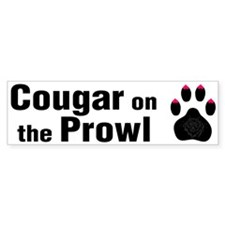 Cougar -- Bumper Car Sticker