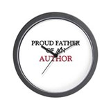 Proud Father Of An AUTHOR Wall Clock