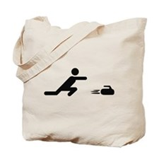 black curling logo curl symb Tote Bag