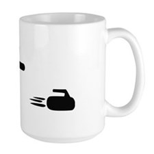 black curling logo curl symb Mug