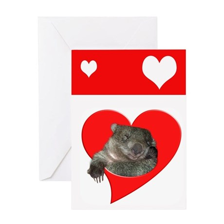 WOMBAT LOVE Greeting Card