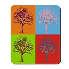 Warhol Print Tree Mousepad