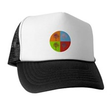 Warhol Print Tree Trucker Hat