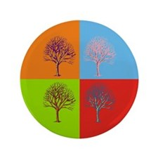 "Warhol Print Tree 3.5"" Button"